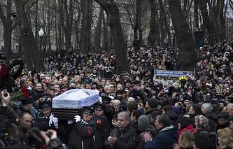 Mouring ceremony for Russian opposition leader Boris Nemtsov