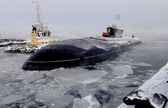 Nuclear-powered submarine of the Russian Northern Fleet