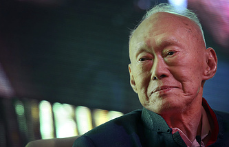 First prime minister of Singapore, Lee Kuan Yew