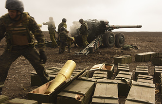 Military drills of the Ukrainian army (archive)
