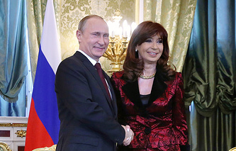 Vladimir Putin and Cristina Fernandez de Kirshener