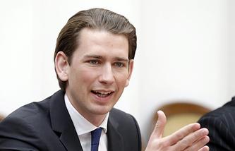 Austrian Minister for Foreign Affairs and Integration Sebastian Kurz