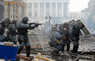 Berkut fighter during rallies in Kiev (archive)