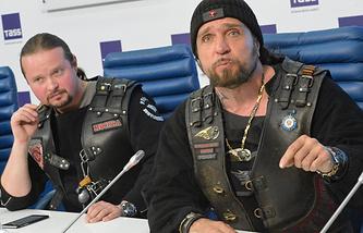 Alexander Zaldostanov (right) and Alexander Bobrovsky
