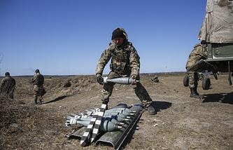 Ukrainian army military drills (archive)