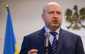 Ukrainian National Security and Defense Council Secretary Oleksandr Turchynov