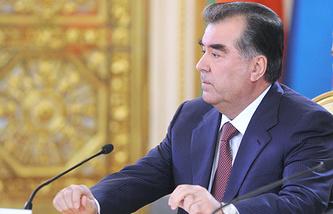 Tajikistan's President Emomali Rakhmov
