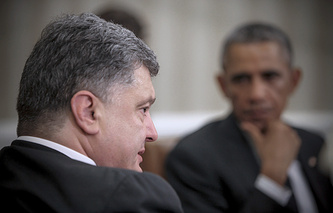 The Ukrainian and US presidents, Petro Poroshenko and Barack Obama (archive)