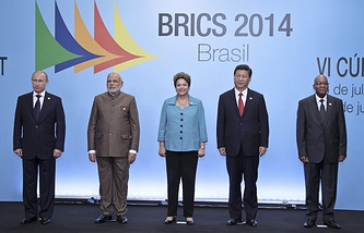 BRICS leaders during summit in Brazil in 2014