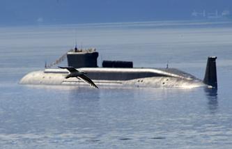 Borei class nuclear-powered ballistic missile submarine