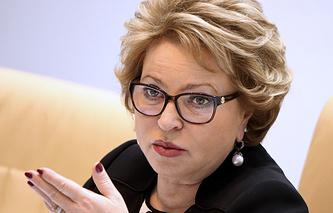 Speaker of the russian Federation Council Valentina Matviyenko