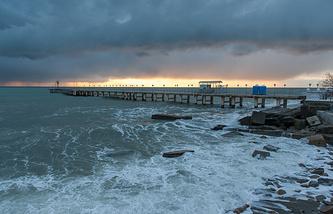 A view of a pier near Matsesta marine passenger terminal in Sochi