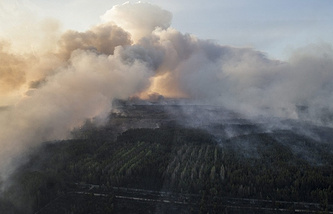 Wildfire in Chernobyl NPP exclusion zone