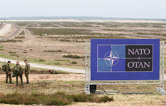 Drill ground for NATO military exercise