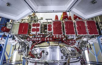 Glonass-M satellite production