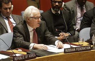 Vitaly Churkin, the Russian ambassador to the UN