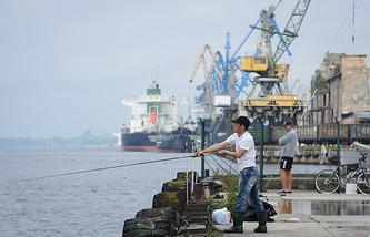 Riga port