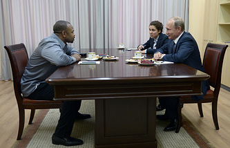 Roy Jones Jr. and Russia's President Vladimir Putin