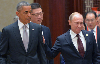 Barack Obama and Vladimir Putin (archive)