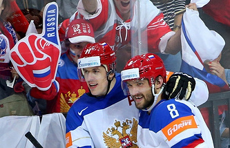 Russian hockey team players