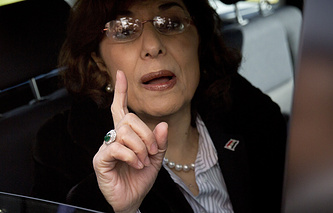 Syrian President Bashar Assad's advisor on political issues Bouthaina Shaaban