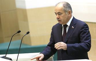 Russia's Federation Council's Deputy Speaker Ilyas Umakhanov