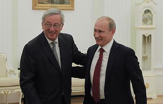 Jean-Claude Juncker and Vladimir Putin in 2012