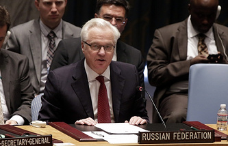 Russia's Permanent Representaive to the United Nations Vitaly Churkin