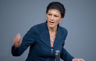 Faction leader of German Left Party faction Sahra Wagenknecht