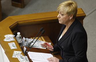 Governor of the National Bank of Ukraine Valeria Gontareva