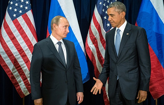 Russia's President Vladimir Putin and US President Barack Obama (archive)