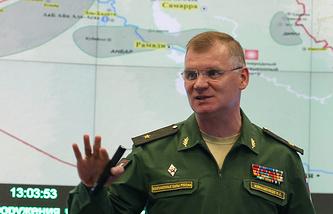 Russia's Defense Ministry spokesman Igor Konashenkov