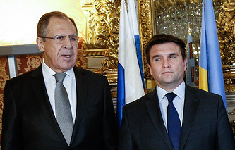 Sergey Lavrov and Pavlo Klimkin (archive)