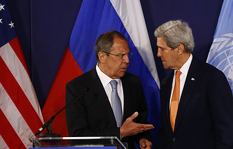 The top diplomats of Russia and the United States, Sergey Lavrov and John Kerry