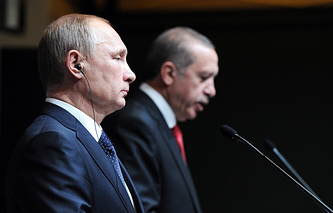 Russian and Turkish Presidents, Vladimir Putin and Tayyip Recep Erdogan, December 01, 2014