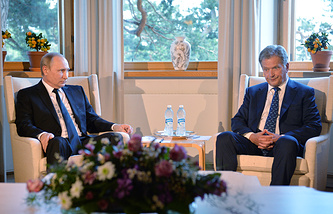 Vadimir Putin and Sauli Niinisto