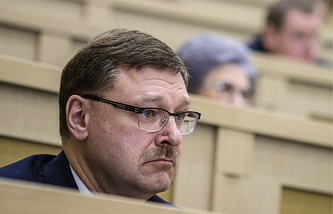 Konstantin Kosachev, the head of the international affairs committee of Russian Federation Council