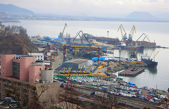 Russia's Far East Nakhodka port