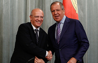 Portuguese and Russian Foreign Ministers, Augusto Santos Silva and Sergey Lavrov