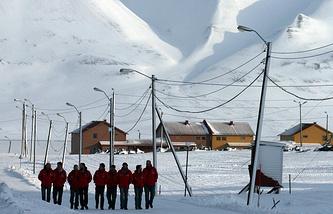 The Arctic archipelago Spitsbergen