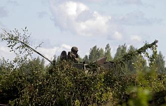 Adazi military base in Latvia