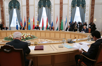 A meeting of the Council of the Leaders of CIS Member States at Minsk's Palace of Independence, 2014