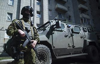 Ukrainian military serviceman