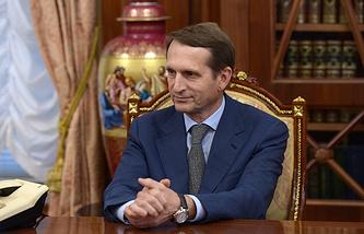 Speaker of Russia's previous State Duma Sergei Naryshkin
