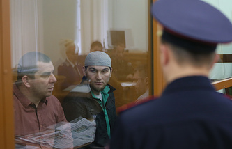 Tamerlan Eskerkhanov and Shadid Gubashev, suspected of being involved in the murder of Boris Nemtsov