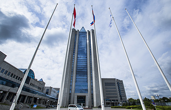 The headquarters of Russia's gas giant Gazprom