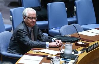 Russia's envoy to UN Vitaly Churkin