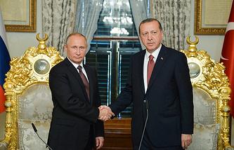 Russian and Turkish Presidents, Vladimir Putin and Recep Tayyip Erdogan