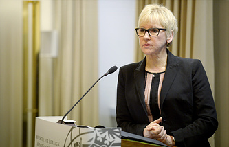 Sweden's Minister of Foreign Affairs Margot Wallstrom
