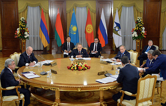 Meeting of the heads of states of the Eurasian Economic Union member countries